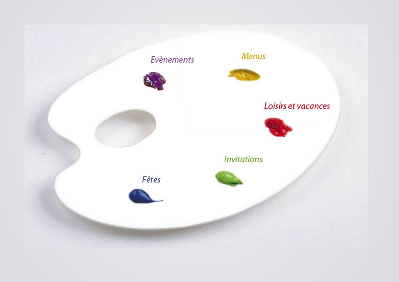 Une palette aux couleurs de la vie